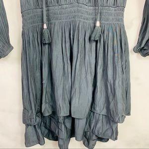 Ramy Brook Dresses - Ramy Brook Black Raylene Long Sleeve Tassel Dress